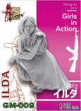 ZLPLA Genuine 1/35 Scale Resin Figure ILDA Girls in Action Assembly Model Kit GM-009