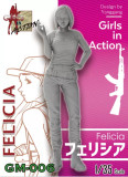 ZLPLA Genuine 1/35 Scale Resin Figure Felicia Girls in Action Assembly Model Kit GM-006