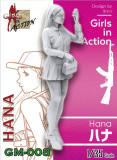 ZLPLA Genuine 1/35 Scale Resin Figure Hana Girls in Action Assembly Model Kit GM-008