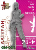 ZLPLA Genuine 1/35 Scale Girls in Action Aaliyah Resin Figure Assembly Model Kit GM-001