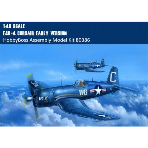 HobbyBoss 80386 1/48 Scale F4U-4 Corsair Early Version Fighter Plastic Military Aircraft Assembly Model Kit