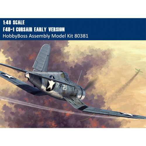 HobbyBoss 80381 1/48 Scale F4U-1 Corsair Early Version Fighter Military Plastic Assembly Aircraft Model Kit