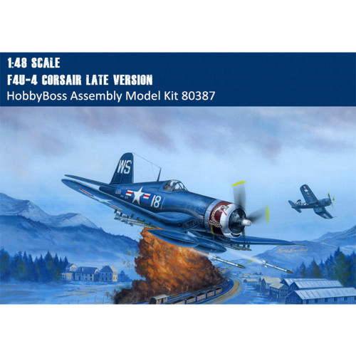 HobbyBoss 80387 1/48 Scale F4U-4 Corsair Late Version Fighter Aircraft Military Plastic Assembly Model Kits