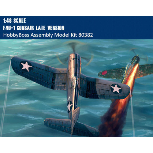 HobbyBoss 80382 1/48 Scale F4U-1 Corsair Late Version Fighter Military Plastic Aircraft Assembly Model Kit