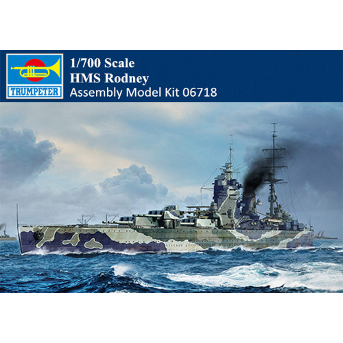 Trumpeter 06718 1/700 Scale HMS Rodney Battleship Military Plastic Assembly Model Kit
