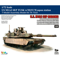 T-Model TK-7310 1/72 Scale US M1A2 SEP TUSK w/M153 Weapon Station Plastic Assembly Model Kits