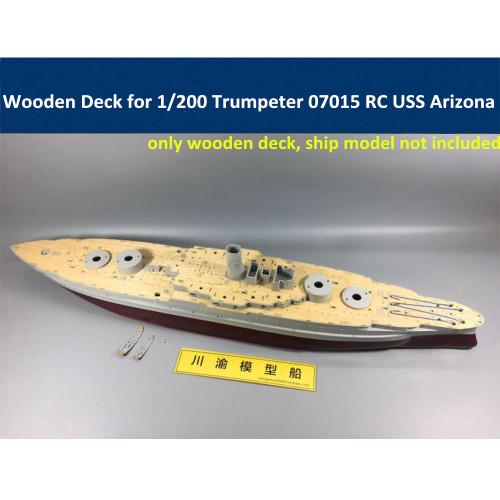 Wooden Deck for 1/200 Scale Trumpeter 07015 RC USS Arizona Battleship Model