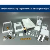 185mm Magnetic Attraction Rescue Ship Tugboat DIY Assembly Model Kit &Captain Figure
