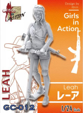 ZLPLA Genuine 1/24 Scale Resin Figure Leah Girls in Action Assembly Model Kit GC-012