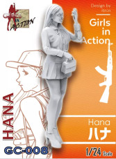ZLPLA Genuine 1/24 Scale Resin Figure Hana Girls in Action Assembly Model Kit GC-008