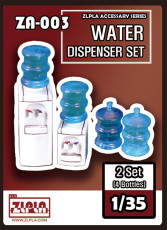 ZLPLA Genuine 1/35 Scale Water Dispenser Set 4 Bottles Resin Assembly Model Kit ZA-003