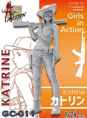 ZLPLA Genuine 1/24 Scale Girls in Action Katrine Resin Figure Assembly Model Kit GC-011