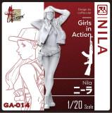 ZLPLA Genuine 1/20 Scale Resin Figure Nila Girls in Action Assembly Model Kit GA-014