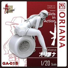 ZLPLA Genuine 1/20 Scale Resin Figure Oriana Girls in Action Assembly Model Kit GA-015