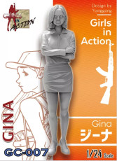 ZLPLA Genuine 1/24 Scale Girls in Action Gina Resin Figure Assembly Model Kit GC-007
