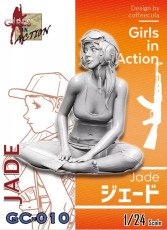 ZLPLA Genuine 1/24 Scale Girls in Action Jade Resin Figure Assembly Model Kit GC-010