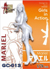ZLPLA Genuine 1/24 Scale Resin Figure Mariel Girls in Action Assembly Model Kit GC-013