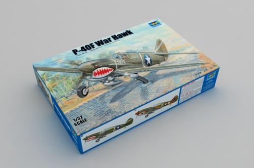Trumpeter 03227 1/32 Scale P-40F War Hawk Fighter Military Plastic Aircraft Assembly Model Kit