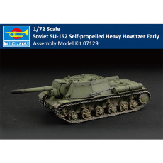 Trumpeter 07129 1/72 Scale Soviet SU-152 Self-propelled Heavy Howitzer - Early Plastic Assembly Model Kit