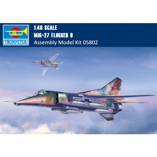 Trumpeter 05802 1/48 Scale Mig-27 Flogger D Military Plastic Aircraft Assembly Model Building Kits