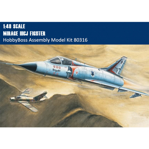 HobbyBoss 80316 1/48 Scale Mirage IIICJ Fighter Military Plastic Aircraft Assembly Model Kit