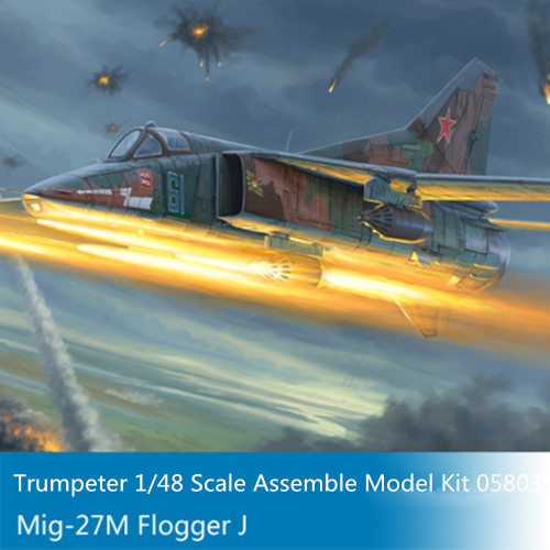 Trumpeter 05803 1/48 Scale Mig-27M Flogger J Military Plastic Aircraft Assembly Model Building Kits