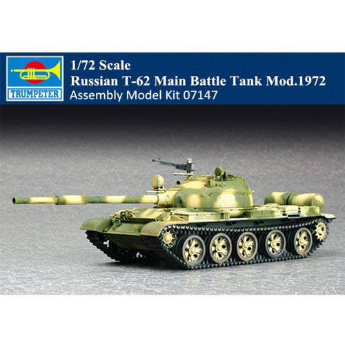 Trumpeter 07147 1/72 Scale Russian T-62 Main Battle Tank Mod.1972 Military Plastic Assembly Model Kit