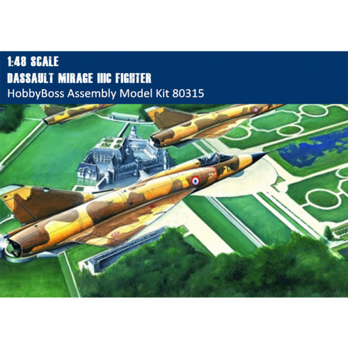HobbyBoss 80315 1/48 Scale Mirage IIIC Fighter Military Plastic Aircraft Assembly Model Kits