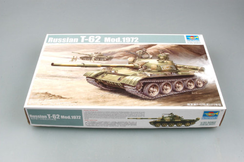 Trumpeter 00377 1/35 Scale Russian T-62 Mod 1972 Tank Military Plastic Assembly Model Kits