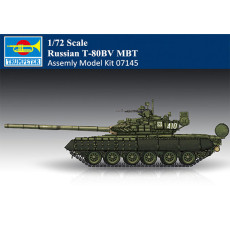 Trumpeter 07145 1/72 Scale Russian T-80BV MBT Military Plastic Tank Assembly Model Kit