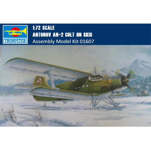 Trumpeter 01607 1/72 Scale Antonov An-2 Colt on Skis Military Plastic Aircraft Assembly Model Kit