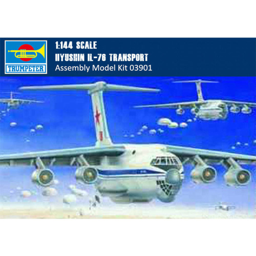 Trumpeter 03901 1/144 Scale llyushin IL-76 Transport Plastic Aircraft Assembly Model Building Kits