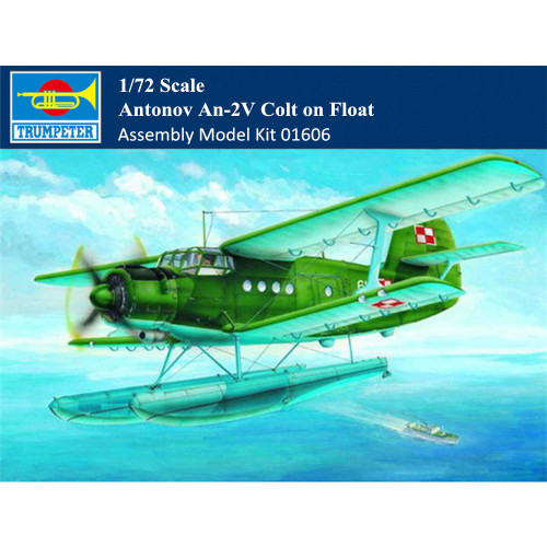 Trumpeter 01606 1/72 Scale Antonov An-2V Colt on Float Military Plastic Aircraft Assembly Model Kit