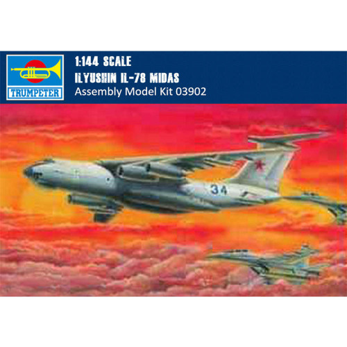 Trumpeter 03902 1/144 Scale IIyushin IL-78 Midas Plastic Aircraft Assembly Model Building Kits