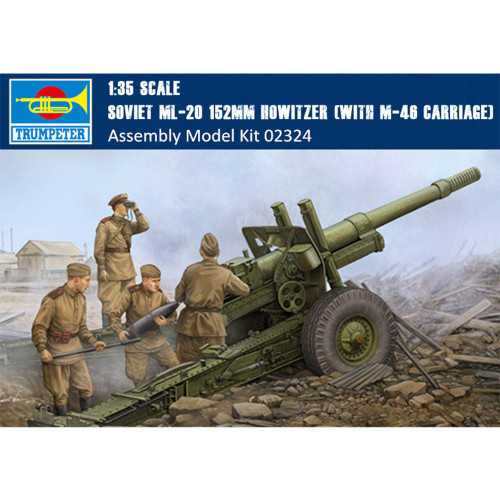 Trumpeter 02324 1/35 Scale Soviet ML-20 152mm Howitzer (With M-46 Carriage) Military Assembly Model Kit