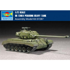 Trumpeter 07287 1/72 Scale US T26E4 Pershing Heavy Tank Plastic Armor Assembly Model Kits