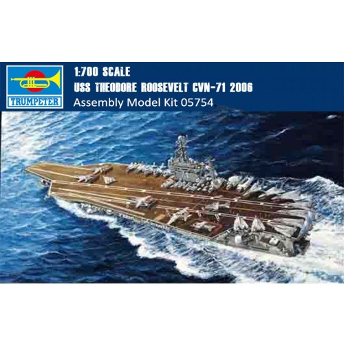 Trumpeter 05754 1/700 Scale USS THEODORE ROOSEVELT CVN-71 2006 Military Plastic Assembly Model Kits