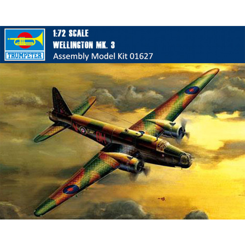 Trumpeter 01627 1/72 Scale Wellington Mk. 3 Bomber Plastic Military Assembly Aircraft Model Kits
