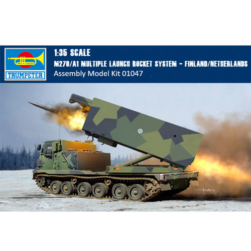 Trumpeter 01047 1/35 Scale M270/A1 Multiple Launch Rocket System - Finland/Netherlands Military Plastic Assembly Model Kit