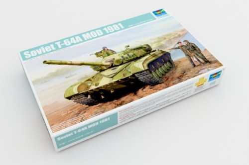 Trumpeter 01579 1/35 Scale Soviet T-64A MOD 1981 Military Plastic Tank Assembly Model Building Kits