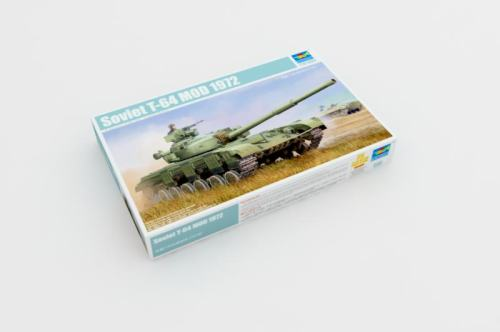 Trumpeter 01578 1/35 Scale Soviet T-64 MOD 1972 Military Plastic Tank Assembly Model Building Kits
