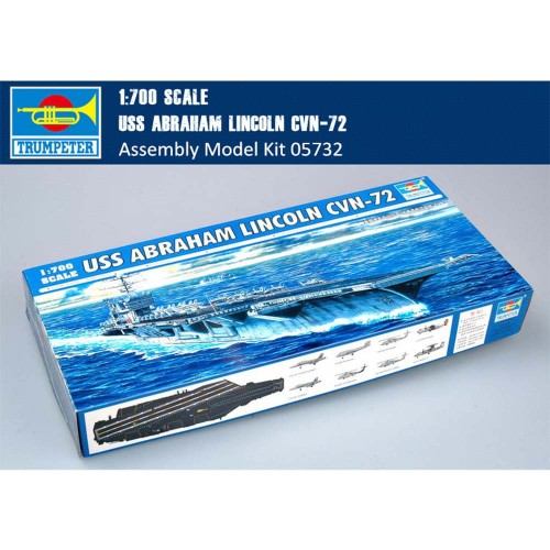 Trumpeter 05732 1/700 Scale USS ABRAHAM LINCOLN CVN-72 Military Plastic Asembly Model Building Kits