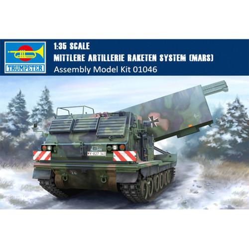 Trumpeter 01046 1/35 Scale Mittlere Artillerie Raketen System (MARS) Military Plastic Assembly Model Kit