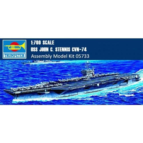 Trumpeter 05733 1/700 Scale USS JOHN C. STENNIS CVN-74 Military Plastic Assembly Model Building Kits