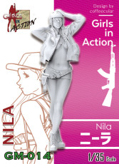 ZLPLA Genuine 1/35 Scale Resin Figure Nila Girls in Action Assembly Model Kit GM-014