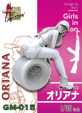 ZLPLA Genuine 1/35 Scale Resin Figure Oriana Girls in Action Assembly Model Kit GM-015