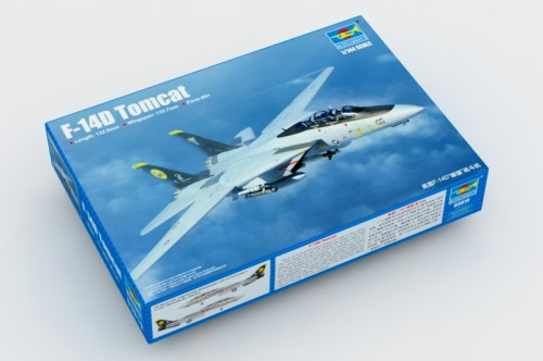 Trumpeter 03919 1/144 Scale F-14D Tomcat Fighter Military Plastic Aircraft Assembly Model Building Kits