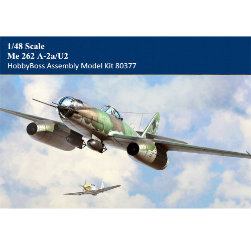 HobbyBoss 80377 1/48 Scale Me 262 A-2a/U2 Fighter Military Plastic Aircraft Assembly Model Building Kits