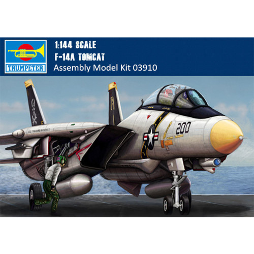 Trumpeter 03910 1/144 Scale F-14A Tomcat Fighter Military Plastic Aircraft Assembly Model Building Kits