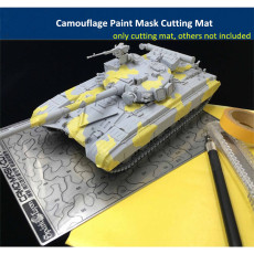 Modern AFV Camouflage Paint Mask Cutting Mat Board Assembly Model Tools AJ0084